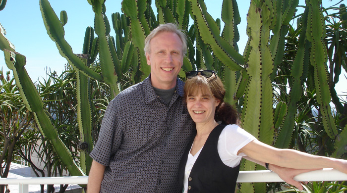 Scott and Reva at the Getty